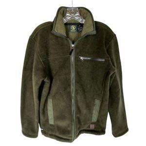 Aigle Polartec Olive Green Fleece Jacket Sz M
